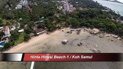 Hinta Hinyai Beach-1 / Koh Samui Thailand overflown with my drone