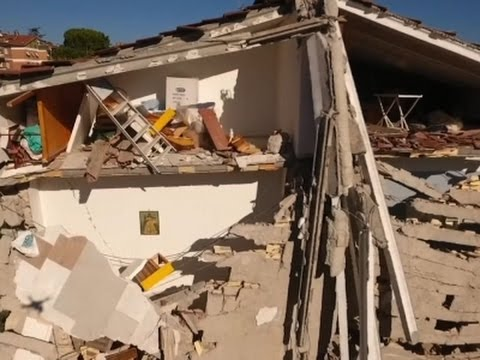 Raw: Drone Footage Shows Italy Earthquake Damage