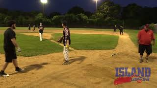 Island Slowpitch: 061018 Broadway Sayville 8PM - Backdoor Raiders vs. Good Wood - Game 1
