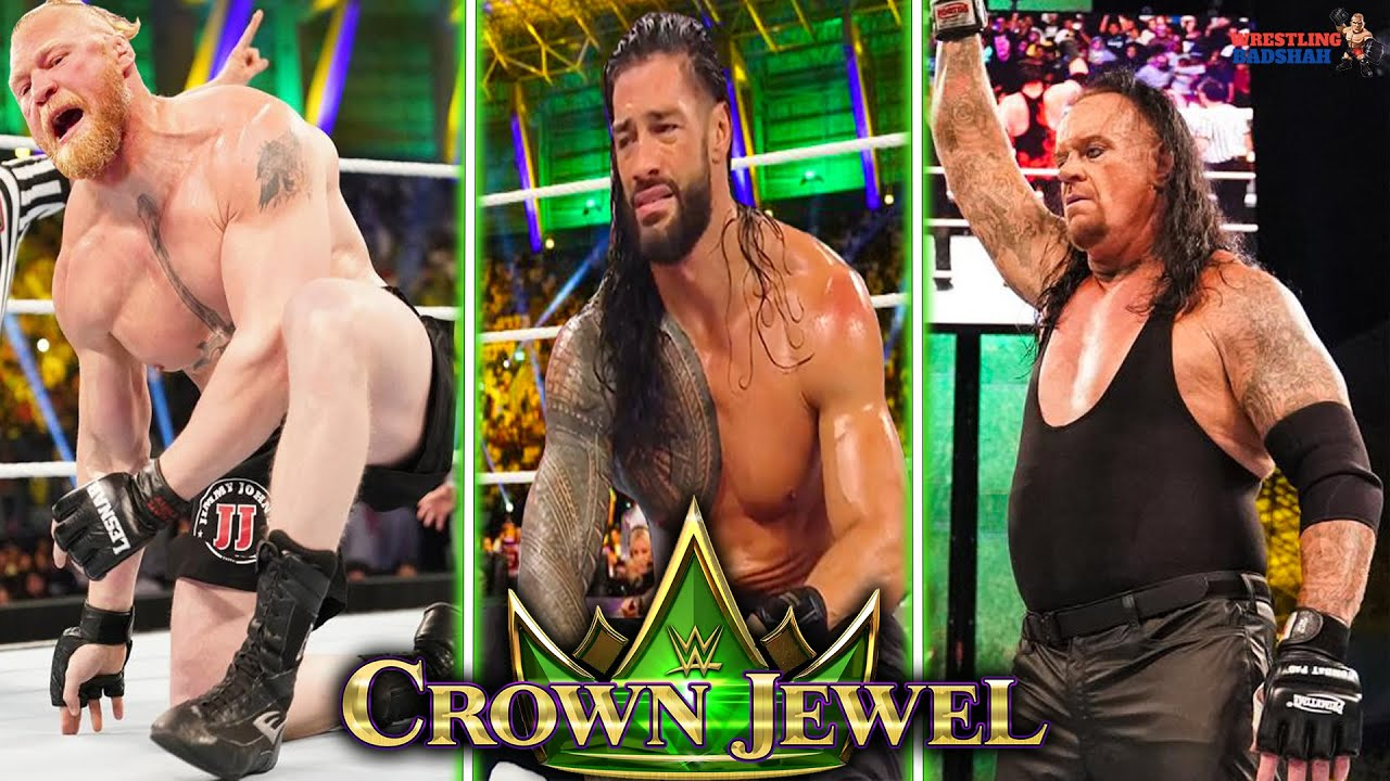 Roman Reigns DEFEATS Brock Lesnar!! Undertaker RETURNS!! WWE Crown Jewel 2021 Highlights Results