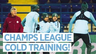 TRAINING IN THE COLD | Champions League Training | Metalist Stadium