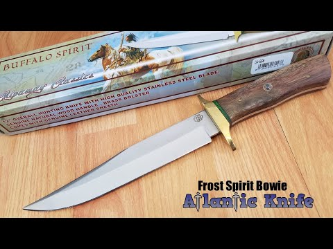 FROST CUTLERY BUFFALO SPIRIT BOWIE FIXED BLADE WOOD HANDLE CHIPAWAY KNIFE CW668