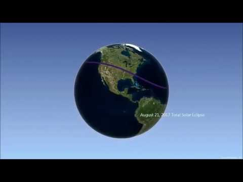 Total Solar Eclipses over the next 3 years