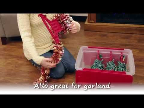 Iris Holiday Wing Lid Storage Box With Light Wraps