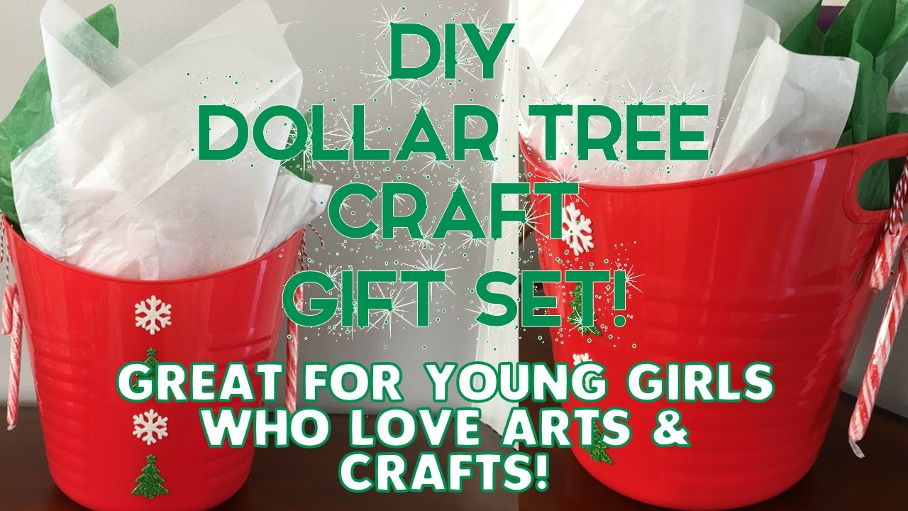 Diy Dollar Tree Craft Gift Set For Young Girls Who Love Arts
