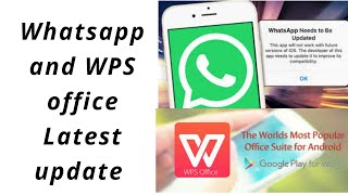 Whatsapp and WPS Office latest update on Android Devices screenshot 5