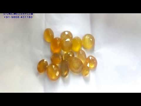 300ct Bangkok Natural Yellow Sapphire - Pukhraj Stone   StoneJwellery   +91-9868-401180