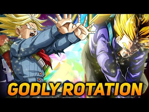 THE BEST ROTATION IN DOKKAN? FULLY EZA RAGE TRUNKS + LR TRUNKS! (DBZ: Dokkan Battle)