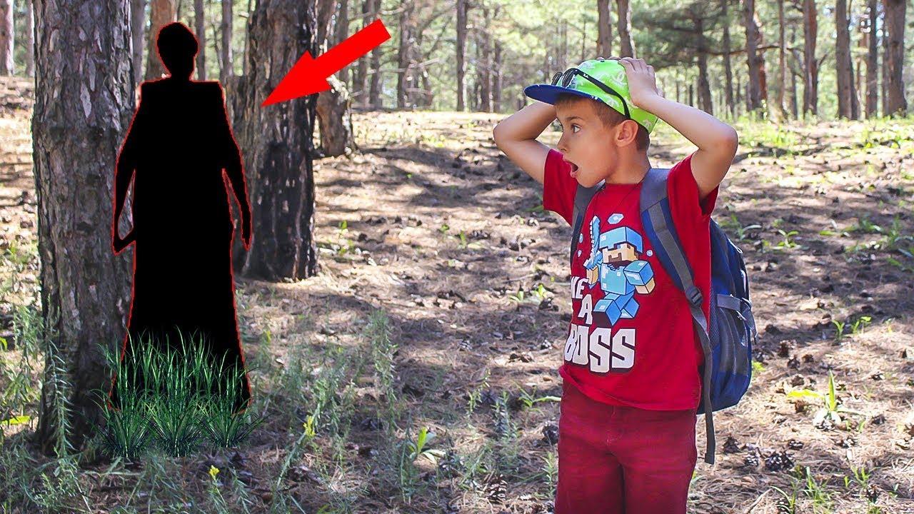 СТРАННЫЕ ЗВУКИ в лесу в реальной жизни?!!! Встретил ли Сережа Бабулю на самом деле?
