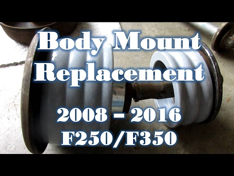 newer ford f 250 f 350 body mount bushing replacement 2008 2014 2011 Ford F-350 18 51