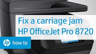 fixing a carriage jam on the hp officejet pro 8720 printer
