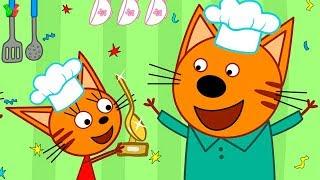 Три Кота КУХНЯ #1 Весёлое Кулинарное Шоу Мультик Игра для детей