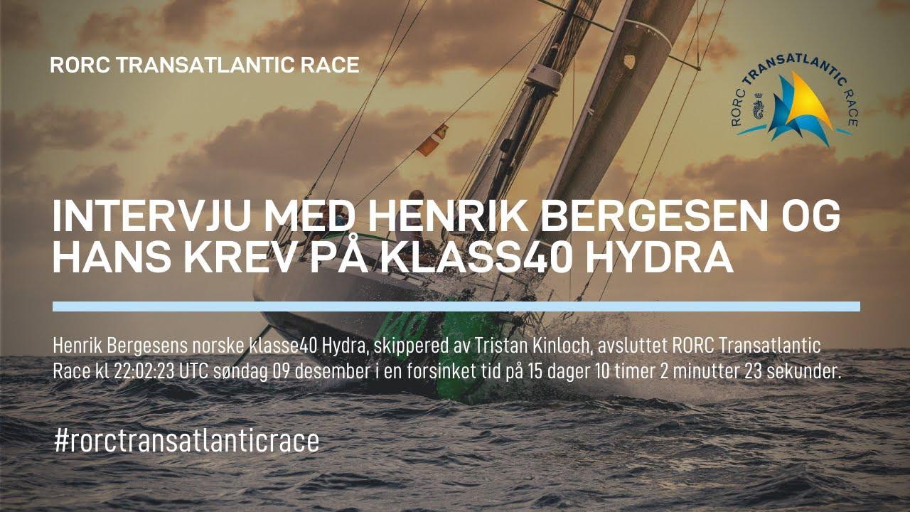 2018 RORC Transatlantic Race HYDRA Henrik Bergesen (NOR)