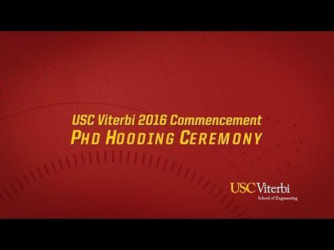2016 USC Viterbi Commencement, PhD Hooding