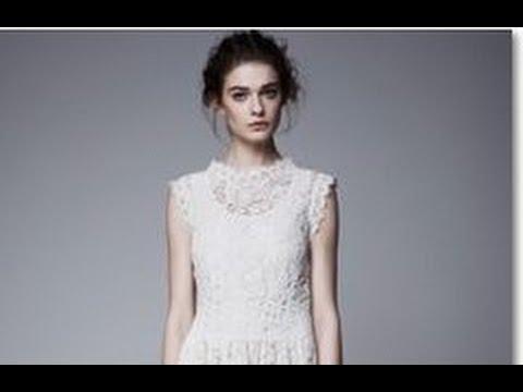 midi white wedding dress