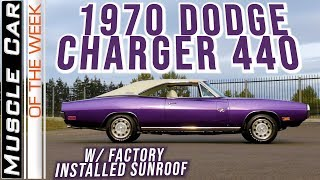 1970 Dodge Charger 440 6-Pack Sunroof - Muscle Car Of The Week Video Episode 345