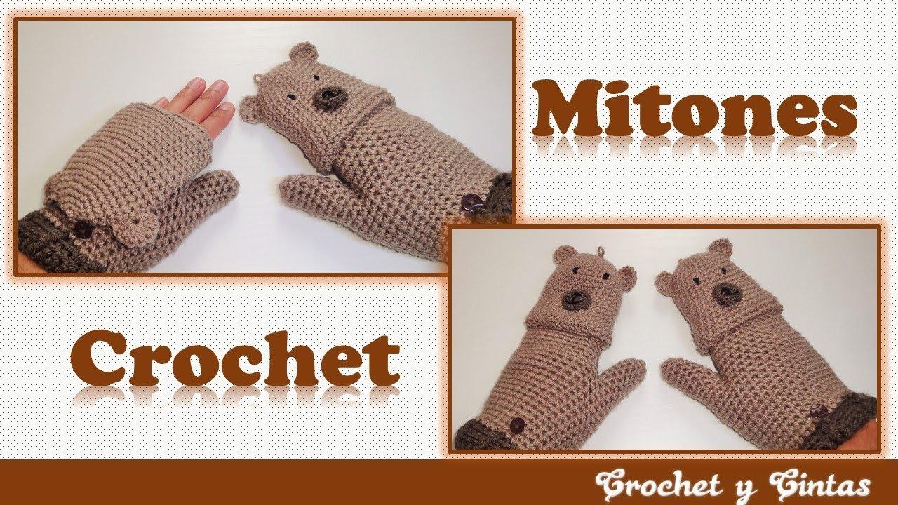 Mitones – guantes sin dedos tejidos a crochet (ganchillo) 👩 Parte 1 ...