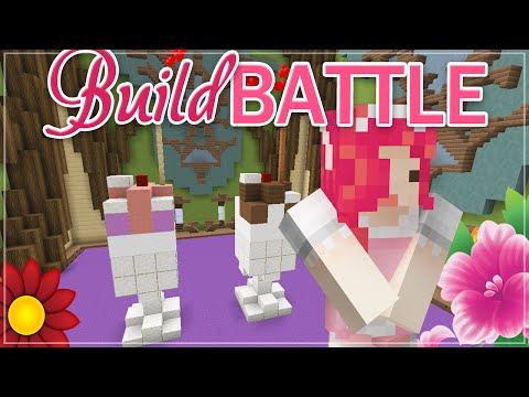 Minecraft BUILD BATTLE ♡ MILKSHAKE!
