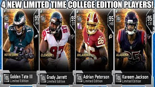 4 LIMITED TIME NEW YEARS COLLEGE CARDS! AP, JARRETT, JACKSON, AND TATE! | MADDEN 19 ULTIMATE TEAM
