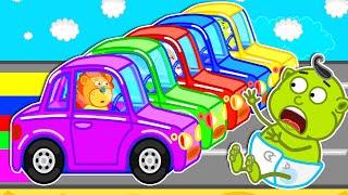 Lion Family 💎 Color Gems & Color Ice Cream #2   Cartoon for Kids