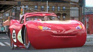 Cars Lightning McQueen Crash Test