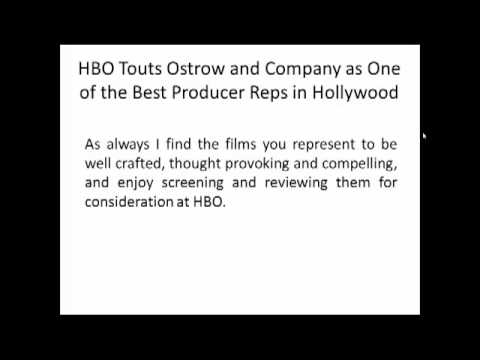 Ostrow and Company- HBO Touts Ostrow and Co.