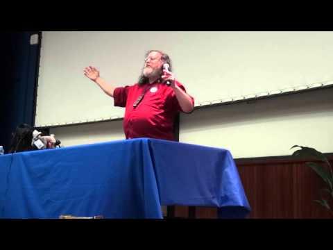 richard stalman conference rmll 2014 france, gnu,fsf