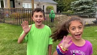 Heidi and Zidane Pretend Play Halloween Trick or Treat