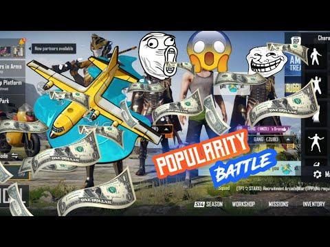 Popularity Battle | Increasing Popularity | Surprise | Plane + Cars | PUBG -RAWAN
