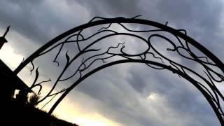 Красивый узор для садовой арки, рисунок из кованых деталей пергола идеи дизайна