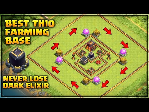 Best Th10 Farming Base 2019 Anti Everything- Never Lose Dark Elixir | Clash Of Clans