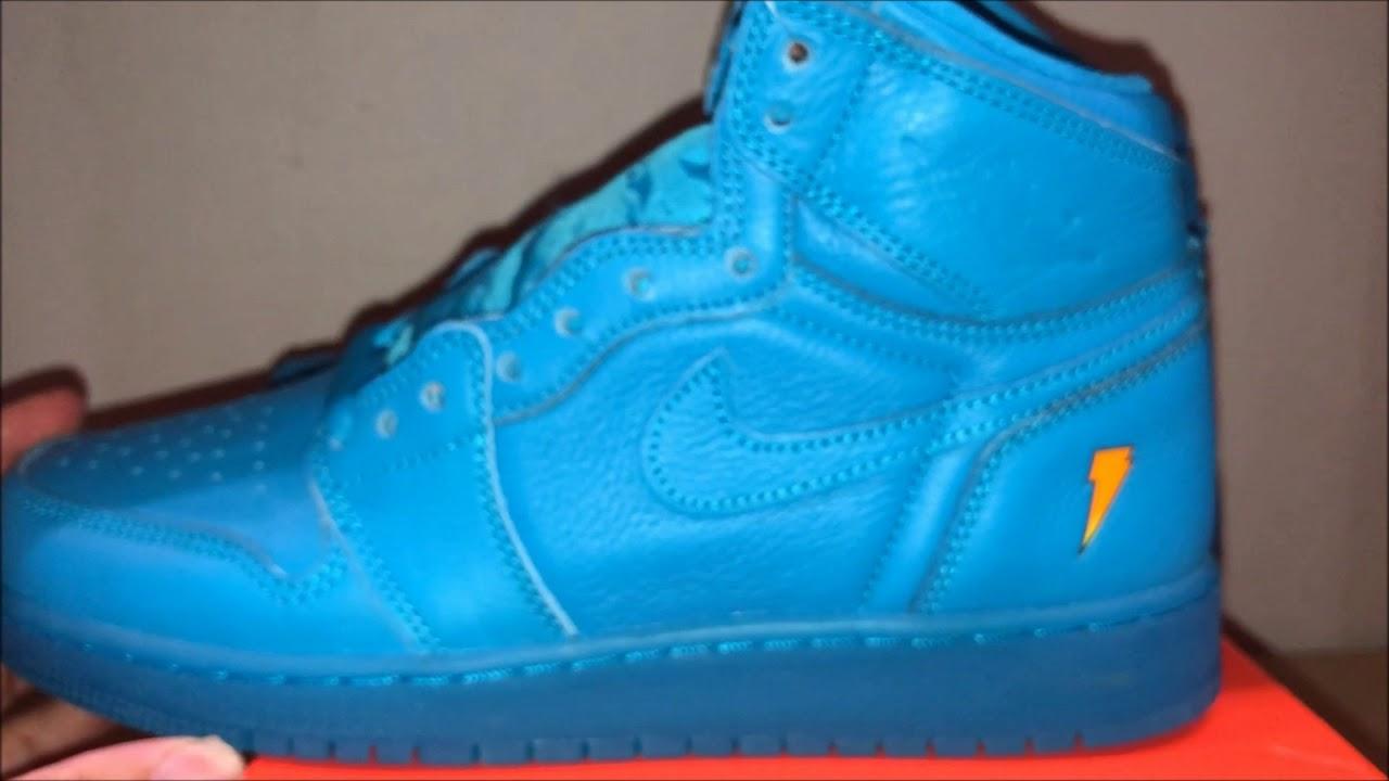 4d8c89fb536f0b Air Jordan 1 Gatorade Blue Lagoon FIRST LOOK - YouTube