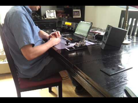 CW (Morse code) contact on 40m band with PS213 key by G0NVT