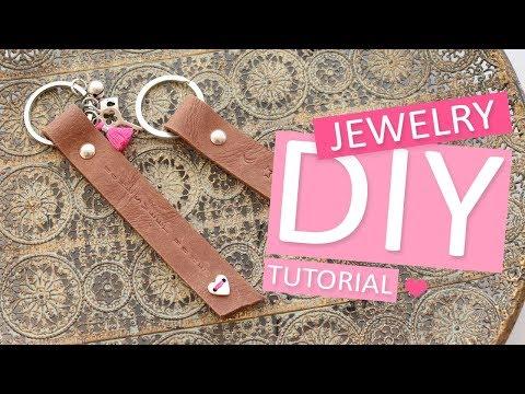 DIY Tutorial – DQ leren sleutelhanger - Zelf sieraden maken
