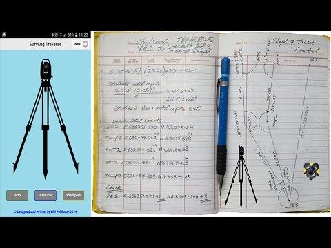 Traversing - Land Surveying - Civil Engineering App On Your Mobile Phone