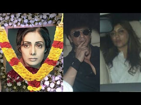 Emotional Shah Rukh Khan And Gauri Khan Breaks Down After Sridevi's Death In Dubai