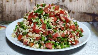 Табуле , салат с булгуром! Вкусный вегетарианский, постный салат без майонеза !