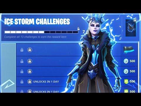 The New Fortnite ICE STORM CHALLENGES REWARDS! (New Fortnite Battle Royale Rewards)