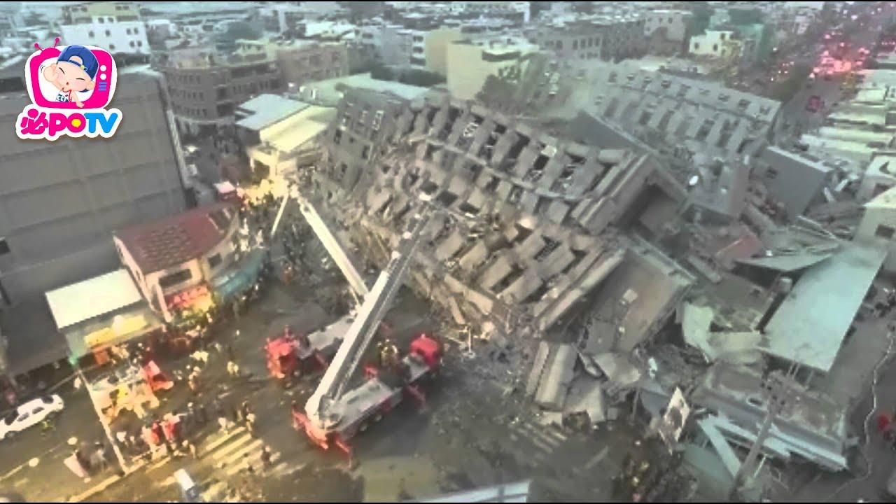 獨家/0206臺灣地震 臺南救災現場空拍畫面 - YouTube