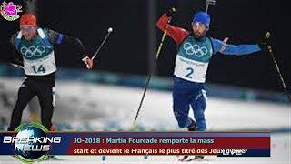 JO-2018 : Martin Fourcade remporte la mass  start et devient le Français le plus titré des Jeu