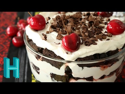 How To Make Black Forest Trifle Recipe | Hilah Cooking