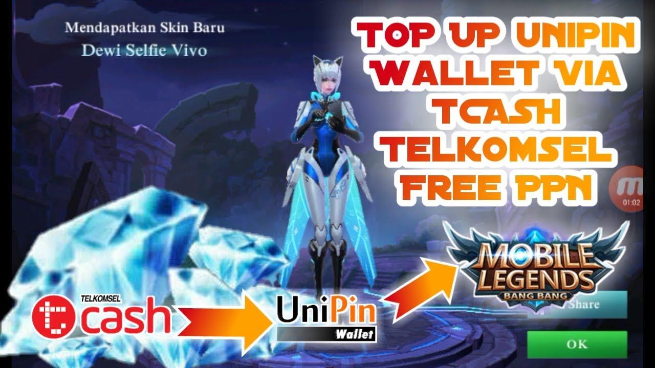 Top Up Saldo Unipin Via Tcash Free PPN Buat Beli Diamon Di Mobile Legends