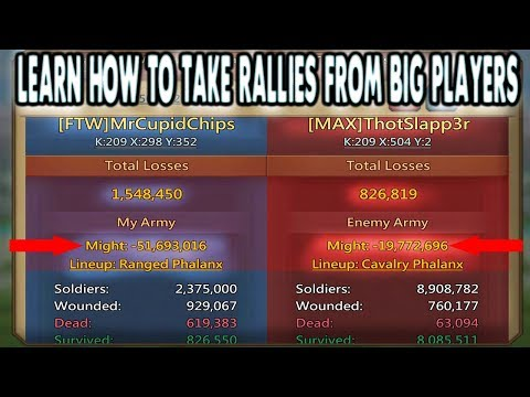 Taking A Rally And How To Set It Up - Lords Mobile