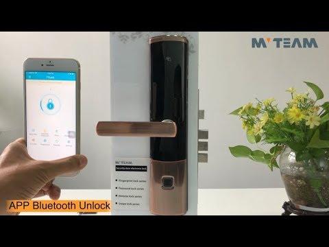 MVTEAM APP Bluetooth Smart Door Lock Fingerprint Keyless K4-ZKMA