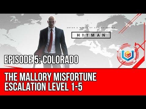 Hitman - The Mallory Misfortune - Escalation Level 1-5 (Colorado Escalated Achievement/Trophy)