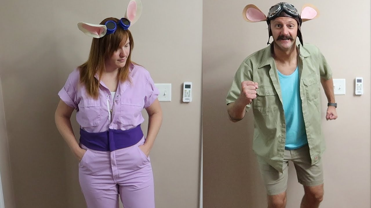 we homemade our disney halloween costumes for mickey's not so scary