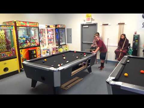 Saturday Action At The Prize Zone Arcade. 8 Ball Pool Tournament