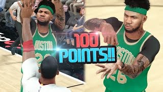 SCORING OVER 100 POINTS ON HALL OF FAME!! NBA 2k17 MyCAREER Ep. 61