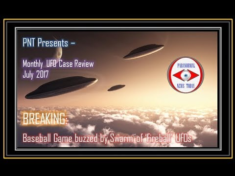 Recent UFO Sightings 2017 : SWARM of UFOs Caught on Tape over Baseball Game