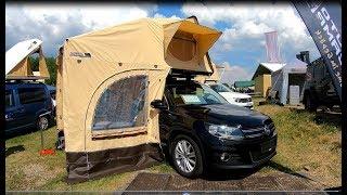 Volkswagen VW Tiguan Camper by Auto Camp  Travel Deluxe car roof tent walkaround
